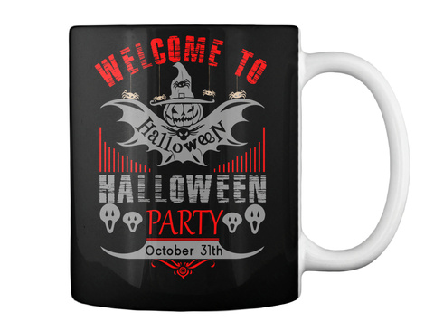 Halloween Mug Black Mug Back