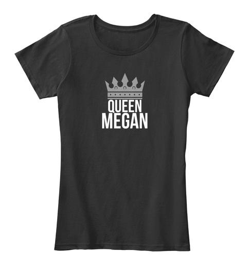 Queen Megan Black T-Shirt Front