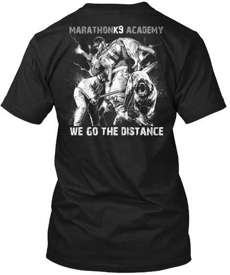 Marathon K9 Academy Black T-Shirt Back