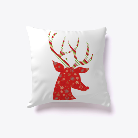 Christmas Deer   Gift White T-Shirt Front