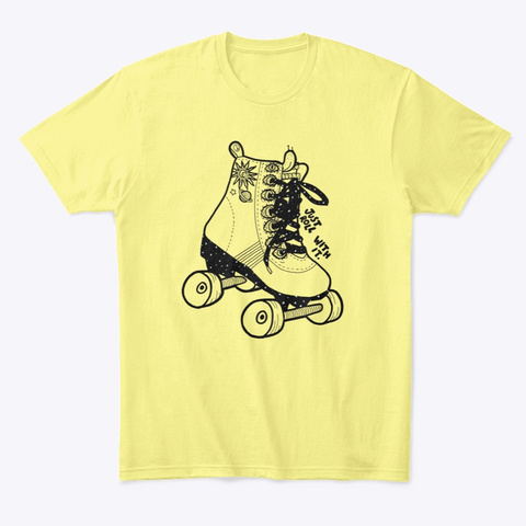 Roll With It Lemon Yellow  T-Shirt Front
