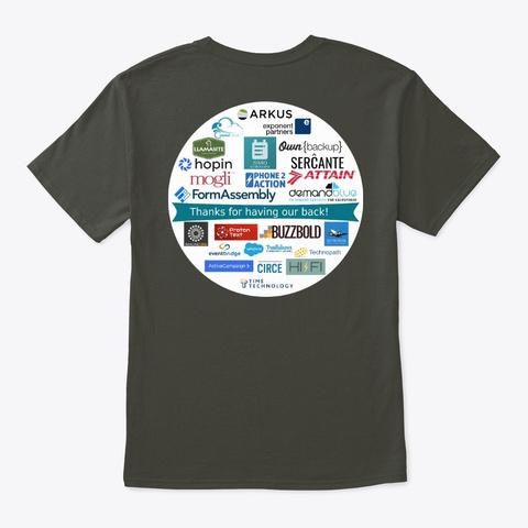 Nonprofit Dreamin 2021 Smoke Gray T-Shirt Back