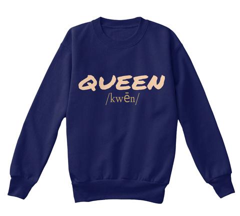 Queen Kwēn Navy T-Shirt Front