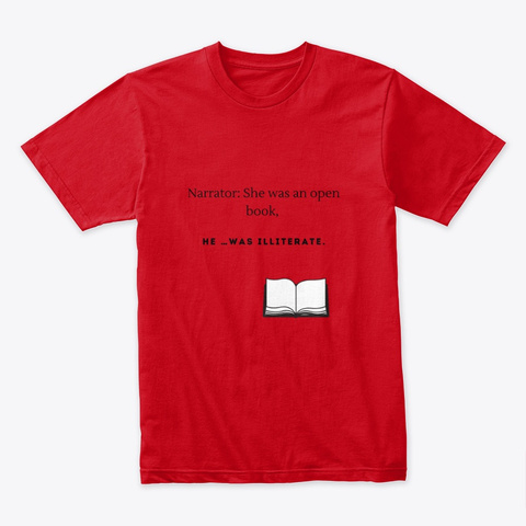 Illiterate Red T-Shirt Front