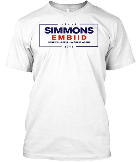 Simmons Embiid '16 T Shirt White T-Shirt Front