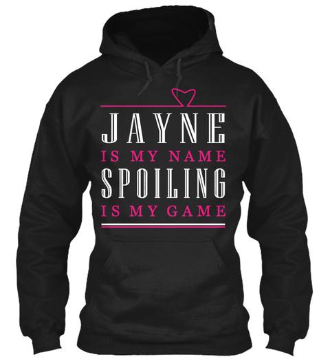 Jayne Game, Jayne Name Black T-Shirt Front