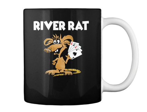 River Rat Mug  Black Mug Back