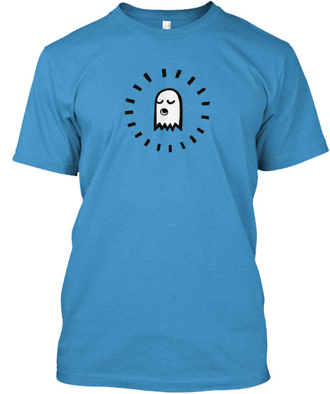 Ghosties T Shirt Heathered Bright Turquoise  T-Shirt Front