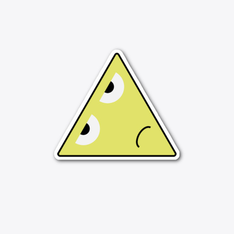 Sad Yellow Triangle (Sticker) Standard T-Shirt Front