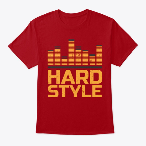 Hardstyle Equalizer | Electro Techno Deep Red T-Shirt Front