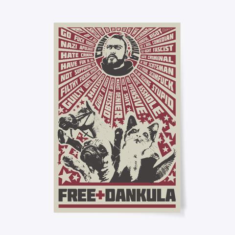 Free Dankula Meowist Propaganda Poster White T-Shirt Front