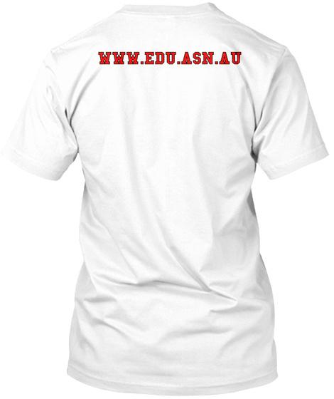 Www.Edu.Asn.Au White T-Shirt Back