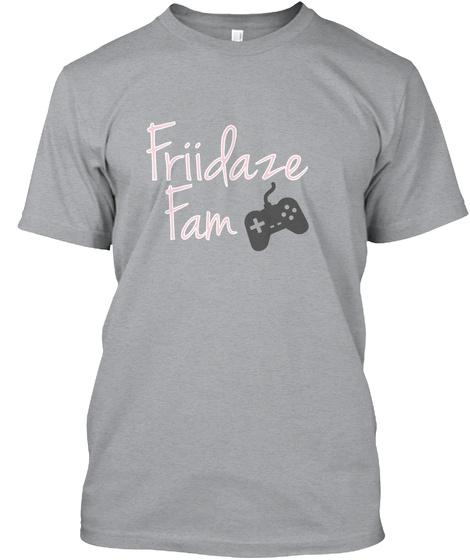 Friidaze Fam Heather Grey T-Shirt Front