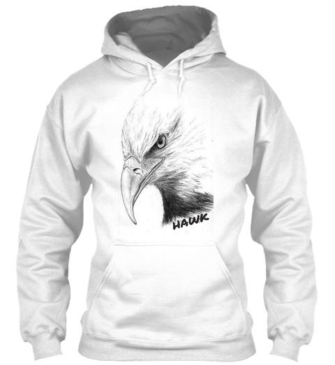 Hawk White T-Shirt Front