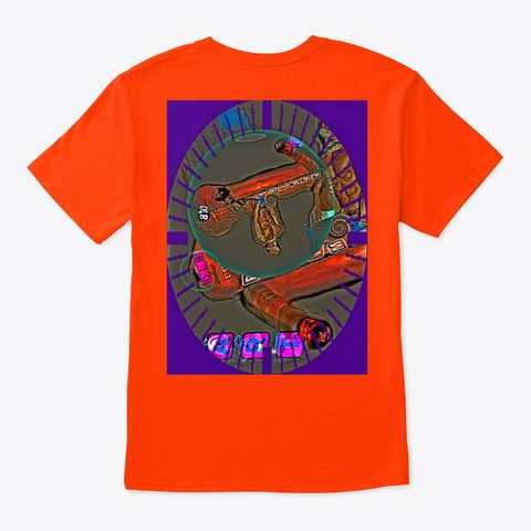 Olb Pp Pimp Erotic Kink Art  Orange T-Shirt Back