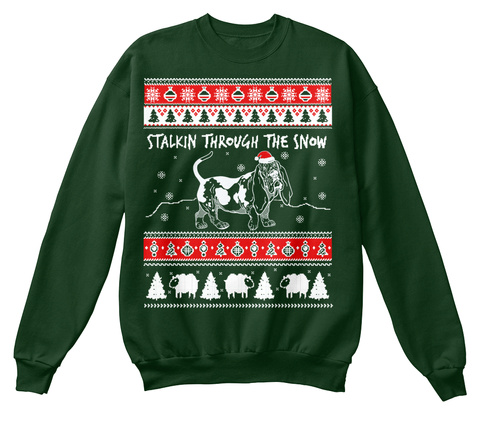 Stalkinn Through The Snow Deep Forest  T-Shirt Front