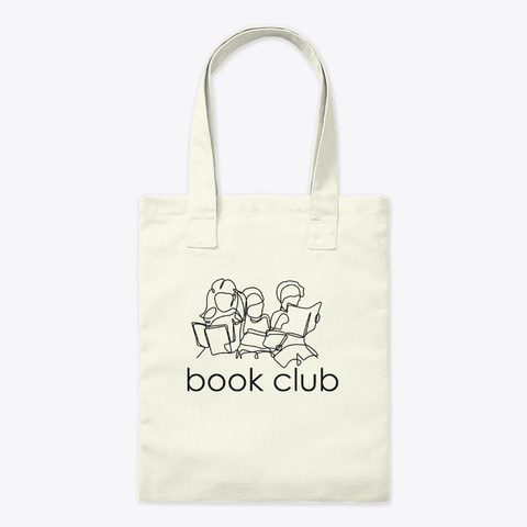 Book Club Friends (Light) Natural T-Shirt Front
