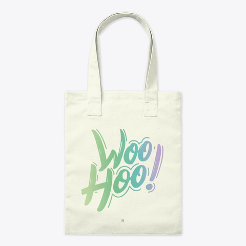 Woohoo! Natural Tote Bag Front