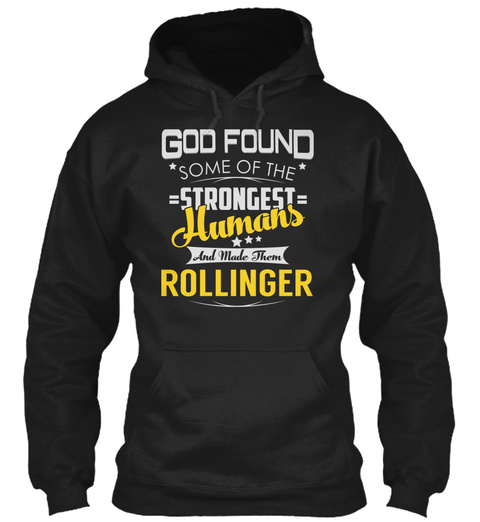 Rollinger   Strongest Humans Black T-Shirt Front