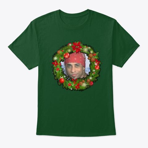 Ricardo Milos Garland Christmas Deep Forest T-Shirt Front
