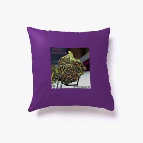 Jimmyinspaz Zz Purple H Indu Kush Purple T-Shirt Front