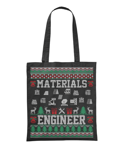 Materials Engineer Black T-Shirt Front