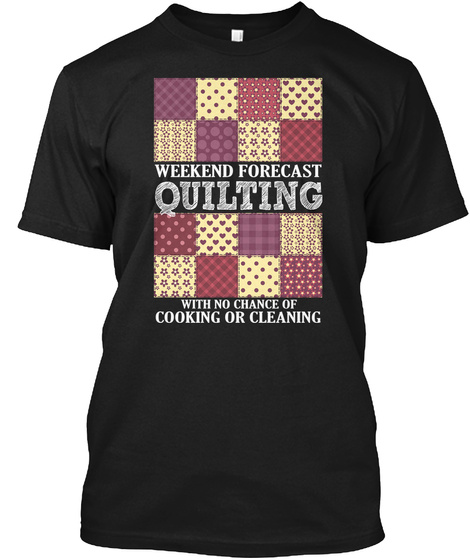 Forecast Quilting Shirt Black T-Shirt Front