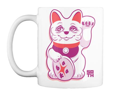 Old Manekineko Mug White Mug Front