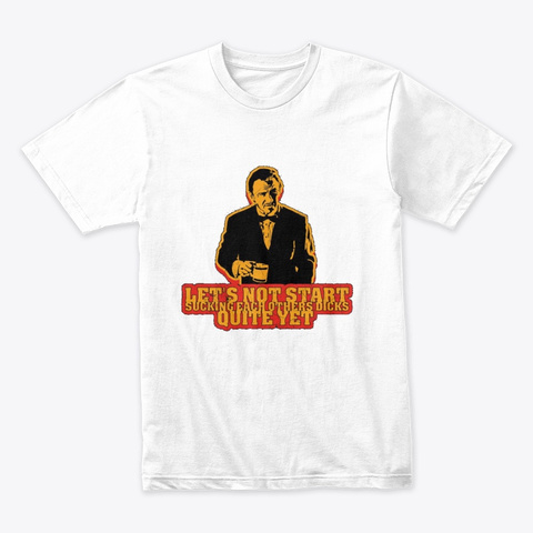 Pulp Fiction   Winstof Wolf (The Guy) White T-Shirt Front