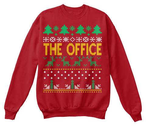 cheap the office ugly christmas sweater deep red sweatshirt front