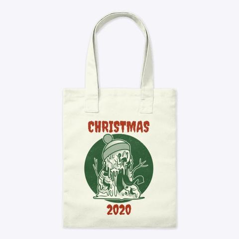 Christmas 2020 Melting Snowman Natural T-Shirt Front