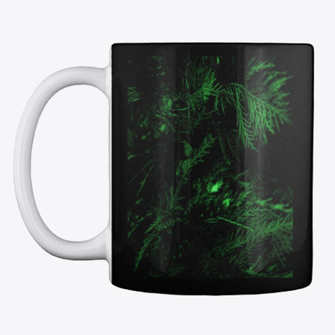 Green Cypress Black T-Shirt Front