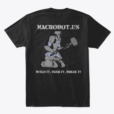 Macr Obot Merch Black T-Shirt Back