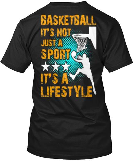 Basketball Sports Player Lifestyle Shirt Black T-Shirt Back