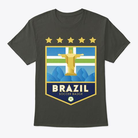 Brazil Badge Smoke Gray T-Shirt Front