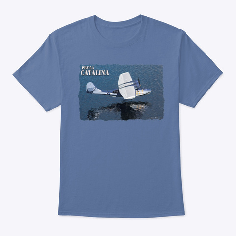 N/A Denim Blue T-Shirt Front