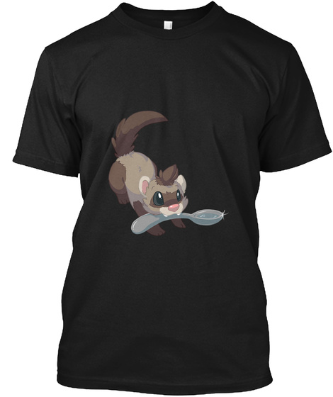 Dooks And Spoons For Charlie Black T-Shirt Front