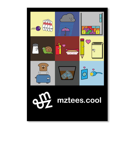 Mz Tees Sticker Black Sticker Front