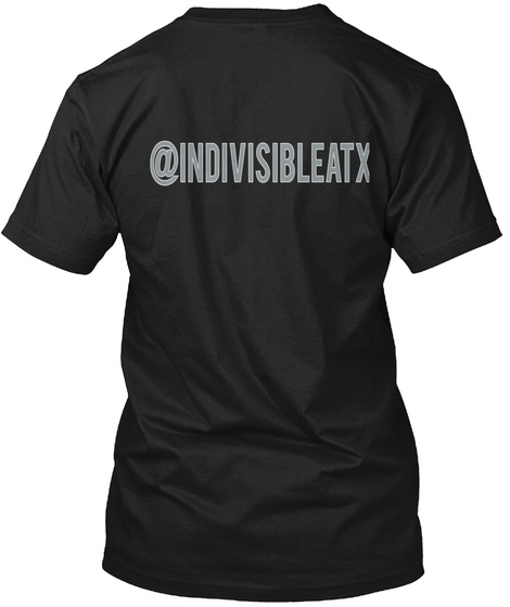 @Indivisibleatx Black T-Shirt Back