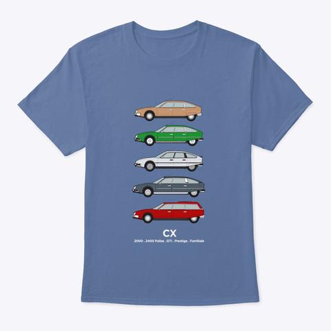 S1 Citroen Cx   Car Collection Denim Blue T-Shirt Front