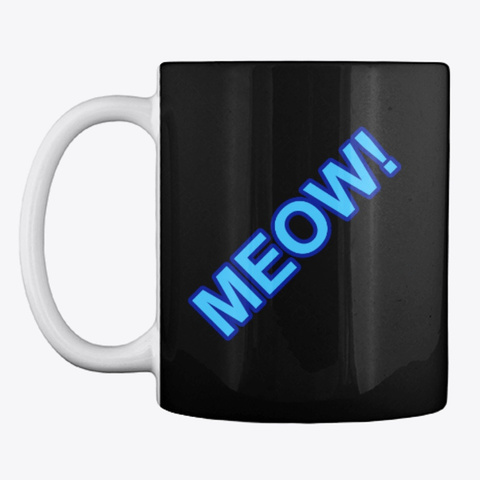 Meow Mug Black T-Shirt Front