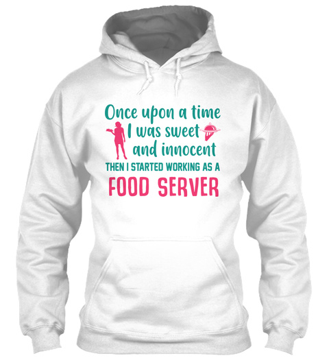 Awesome Food Server White T-Shirt Front