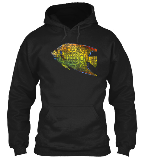 Tropical Fish 12 Abstract Art By Sharon  Black T-Shirt Front
