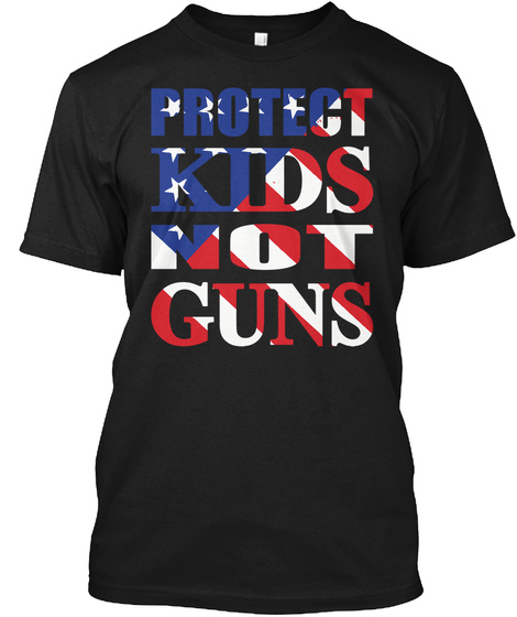 Florida School Massacre   Protect Kids Black T-Shirt Front