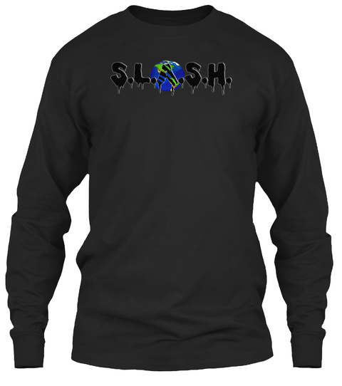 S.L.A.S.H Black Long Sleeve T-Shirt Front
