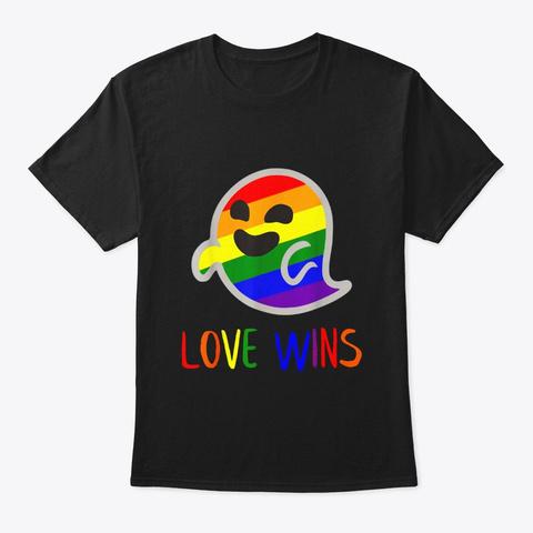 Gaysper Love Wins Lgbt Gay Lesbian Queer Black T-Shirt Front