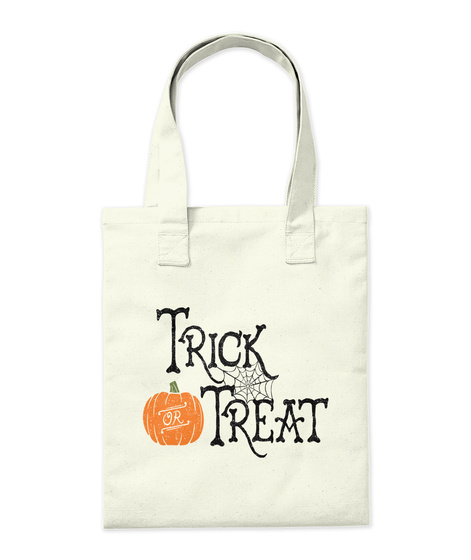 Trick Or Treat Natural Tote Bag Back