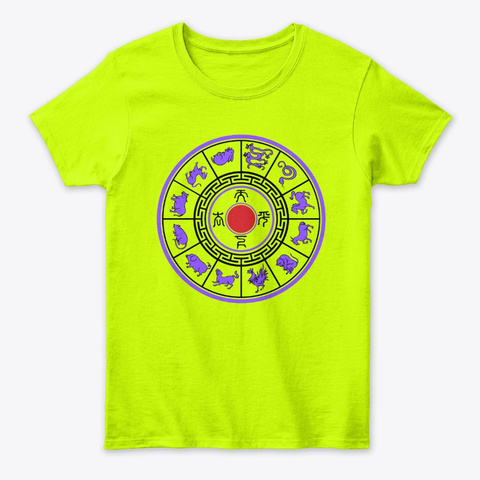Chinese  Zodiac Safety Green T-Shirt Front
