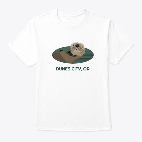 Dunes City Or Otter Pnw Tribal White T-Shirt Front