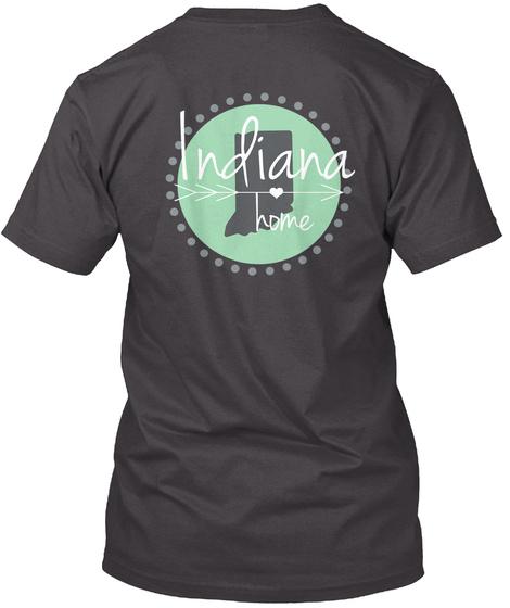 Indiana Home Heathered Charcoal  T-Shirt Back